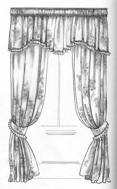 Interior design drawing interiors design - Hand Drawing Curtains Dawi93