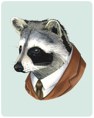 Berkley Illustration's racoon