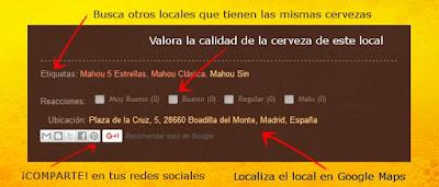de cerves por Boadilla - Guía de cervezas de Boadila del Monte (Madrid)