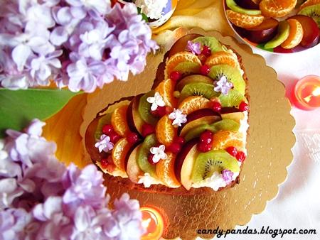 Owocowe serduszko dla Mamy (bezglutenowe z melasą)