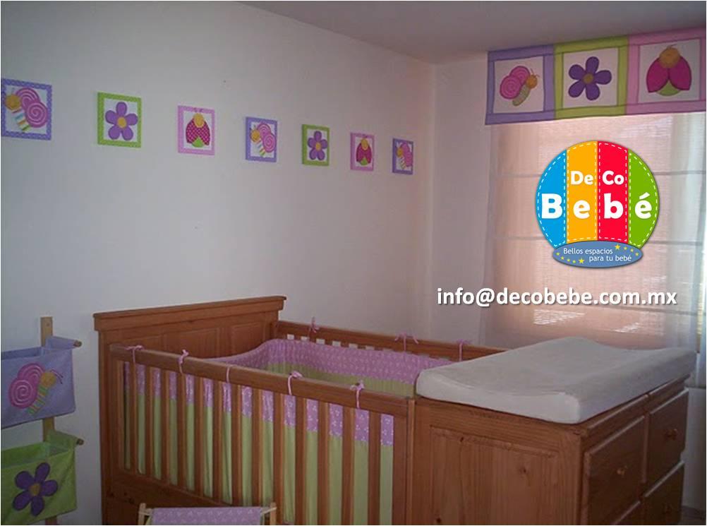 Decoracion habitacion bebe ni a mariposas - Decoracion de cunas para nina ...
