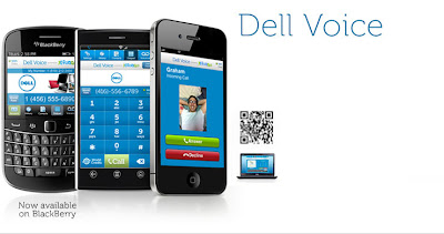 Dell Voice app for making free VoIP Blackberry calling