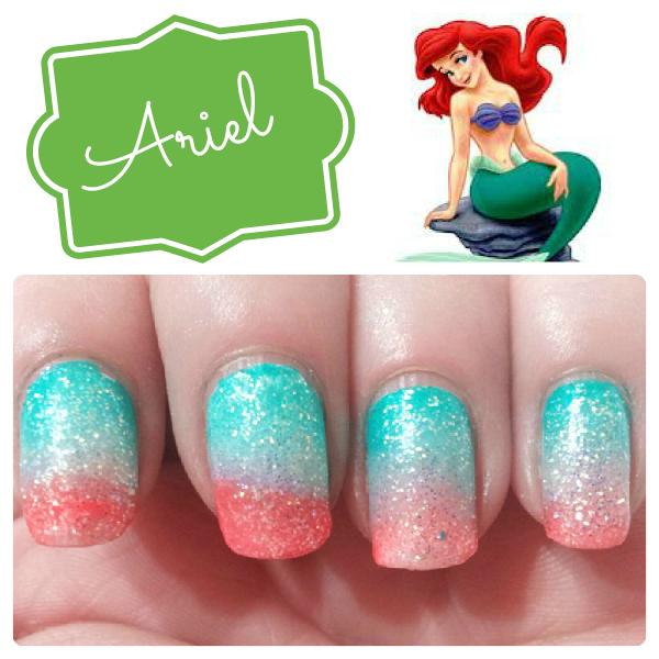 disney princess inspired nails