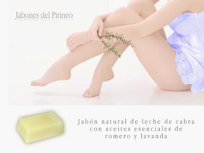 Jabón Natural de Leche de Cabra, Romero y Lavanda
