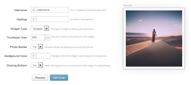 cara membuat widget instagram di blog