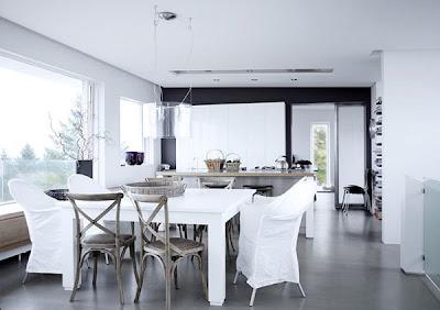 Decoraci n de interiores de color blanco interior for Aprender diseno de interiores