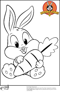 cute baby bugs bunny coloring pages free
