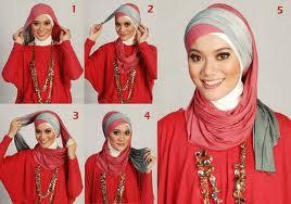 cara memakai jilbab style cantik