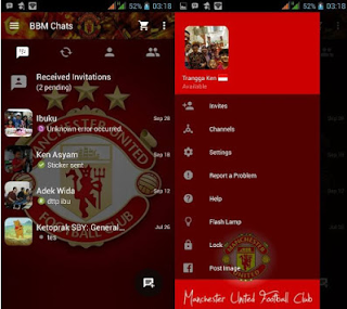 For you lot fans of the English linguistic communication football game squad BBM Mod Manchester United V2.10.0.31 Apk