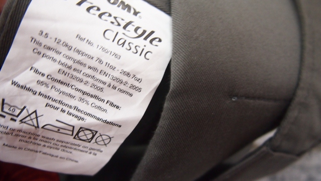 tomy freestyle baby carrier instruction manual