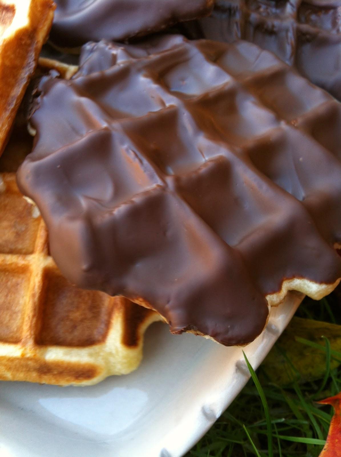 """alt=gaufres liégeoises au chocolat"""""""