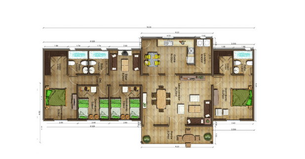Dise os de casas planos gratis plano casas gratis 139 m2 for Planos arquitectonicos de casas gratis