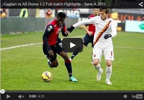 Highlights Liga Italia : Cagliari  1 – 2 Roma