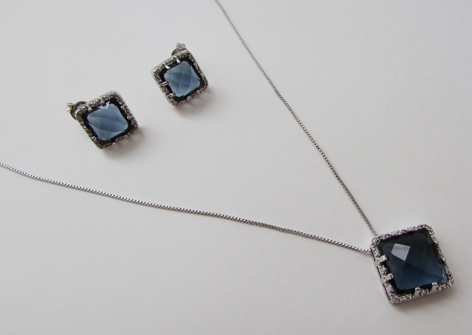 Vivacy Semi Joias conjunto de cristal