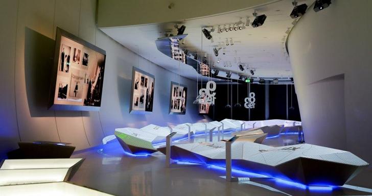 Modern museum in Heydar Aliyev Cultural Center by Zaha Hadid Architects