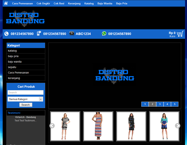 Download Template Distro Bandung Themes