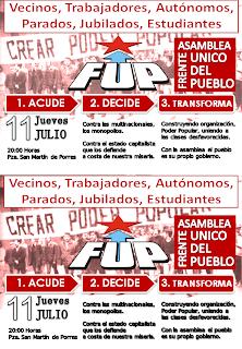 (FUP) Frente Único del Pueblo Sevilla Convocatoria+Asamblea+FUP+2