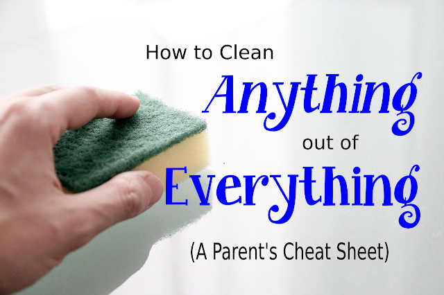 A Parent's Cheat Sheet to Cleaning Anything Off of Everything -- Tough stains? Trust me, I've got 5 kids. It's happened here more than once and I know how to make it look like it never happened.  {posted @ Unremarkable Files}