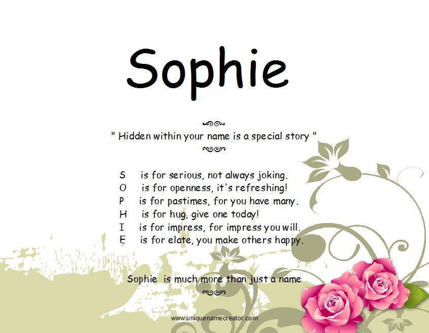 Sophie | Unique Name Creator