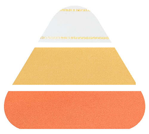 Candy Corn Ribbon from The Love. Luck. Kisses & Cake Shop