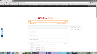 screen shot of wolframalpha.com