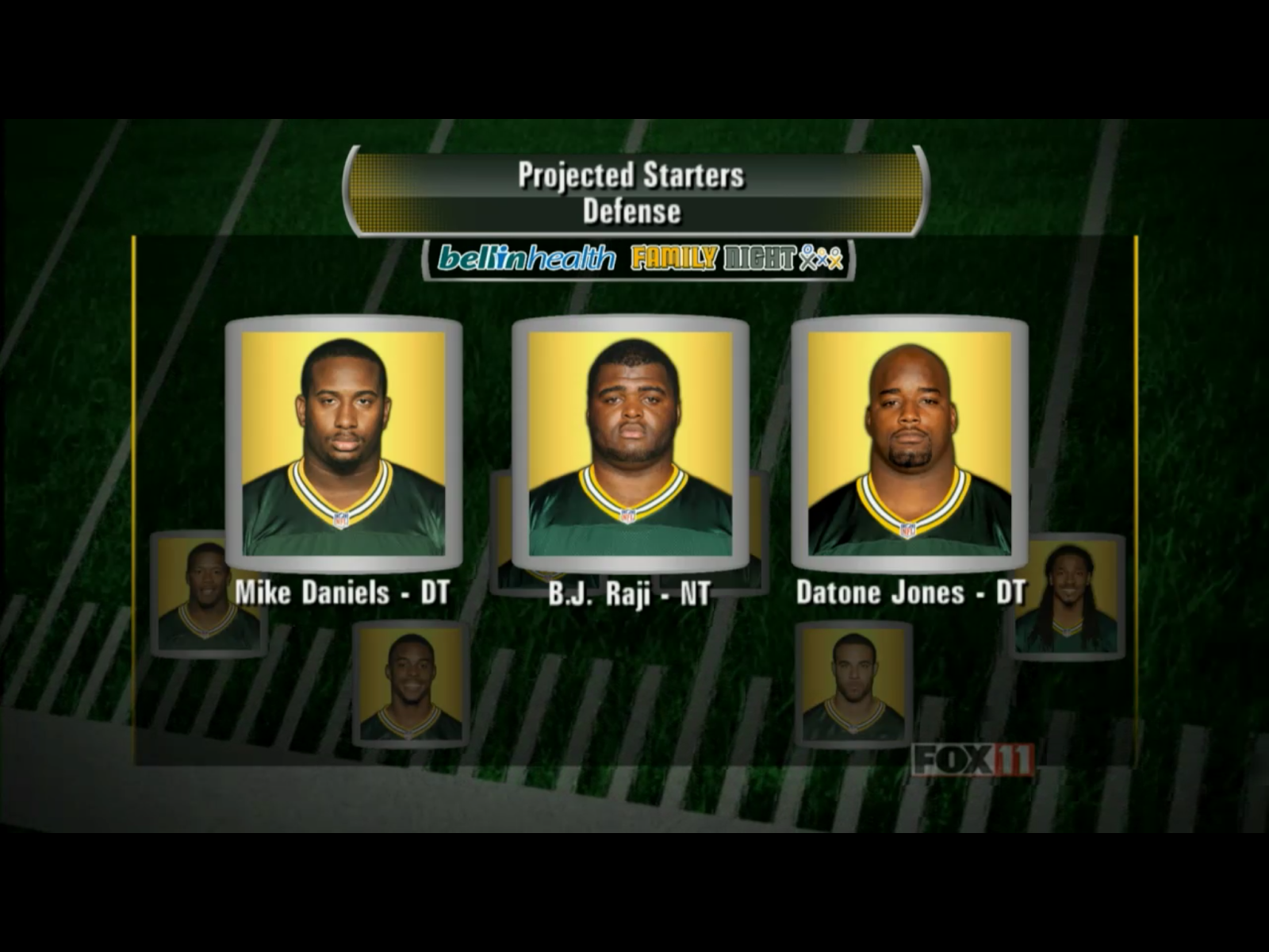 Green Bay Packers starting defensive line