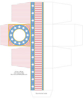 Patriotic Printable Gift box #4thofJuly #IndependenceDay #printable #giftbox #party