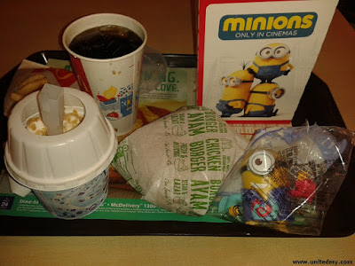 McDonalds Happy Meal with Minion Toy