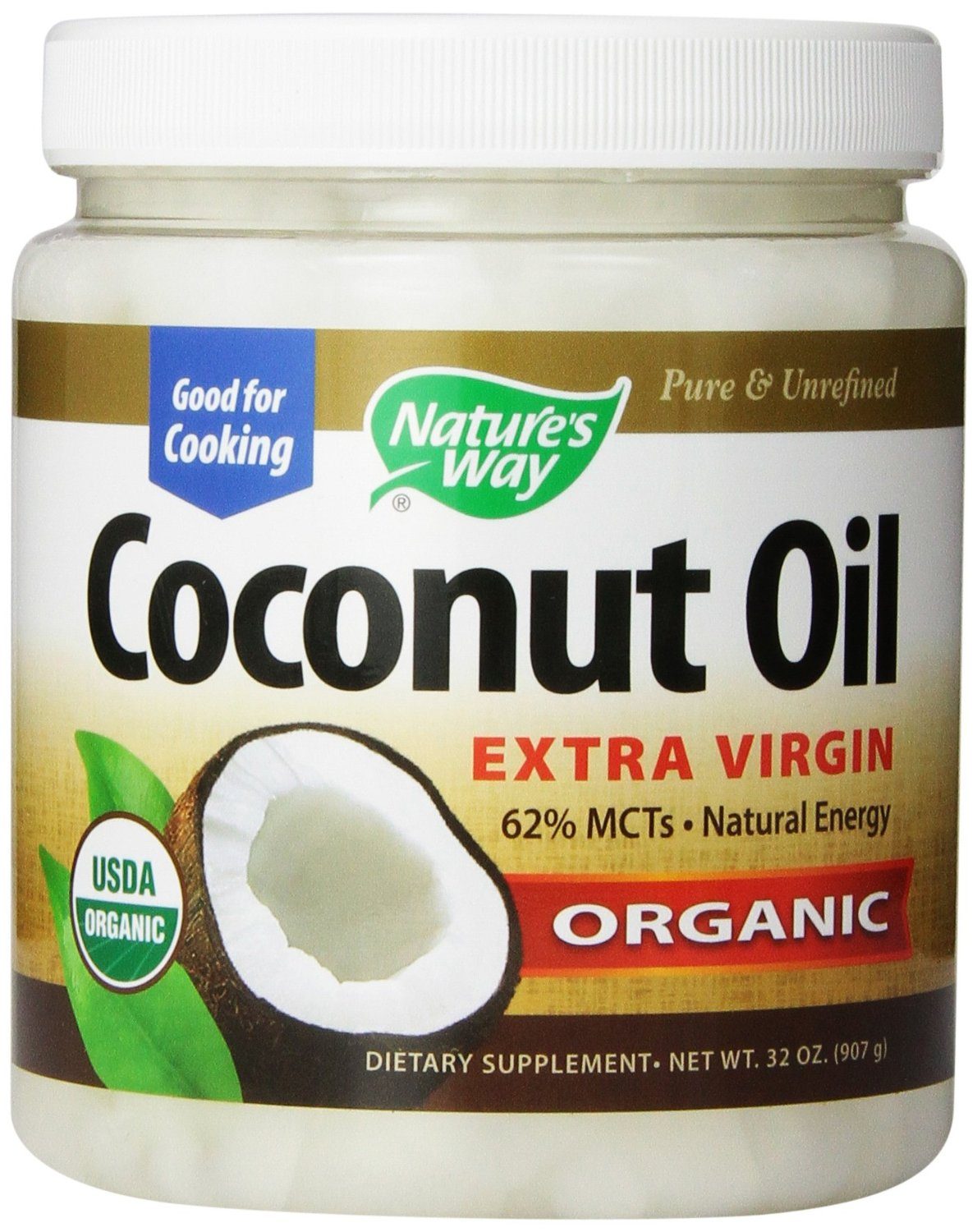 Roll over image to zoom in        Nature's Way Extra Virgin Organic Coconut Oil