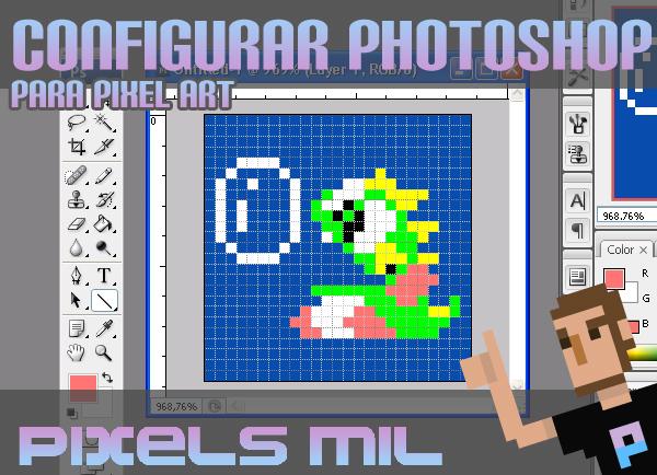 Pero vayamos por partes, hoy empezaré por aquellos que quieran utilizar Photoshop para su andadura pixel.