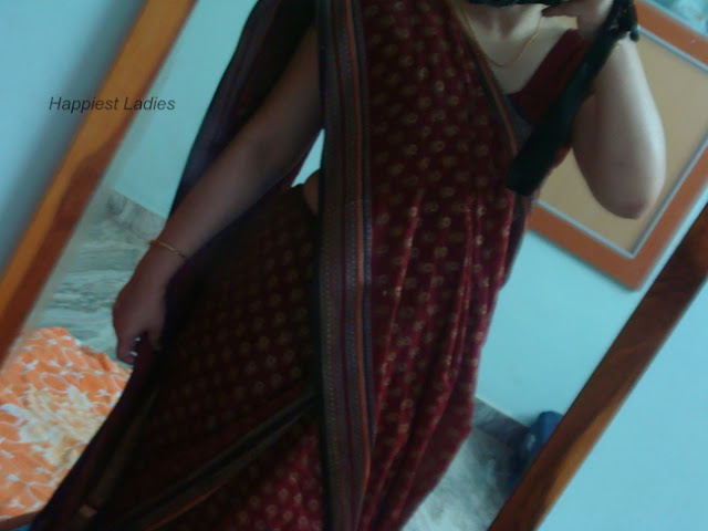 How to wear saree Step4+how to wear a sari