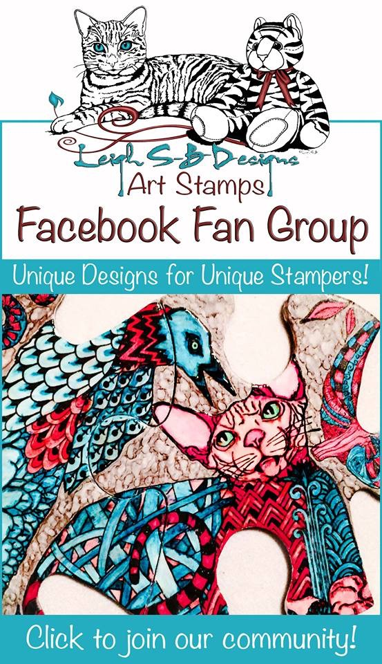 LeighSBDesigns Art Stamps Facebook Fan Group