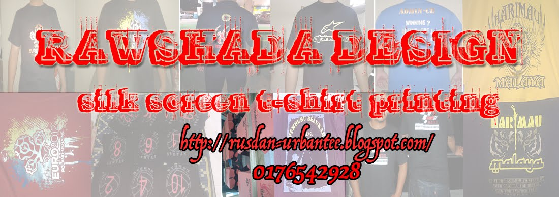cetak t-shirt silk screen, heat press, embroidery, t-shirt kosong dll