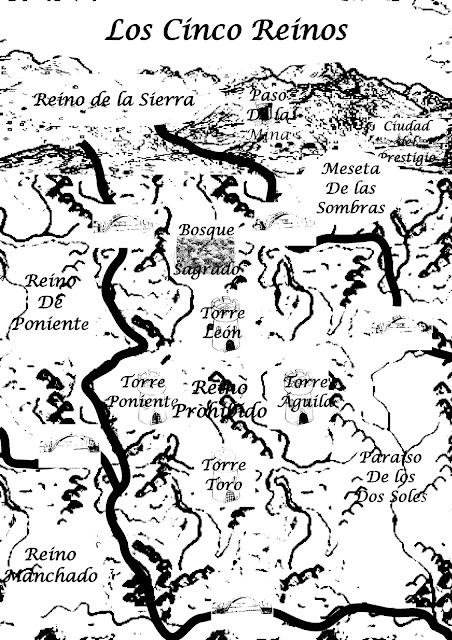 Antiguo mapa de los Cinco Reinos