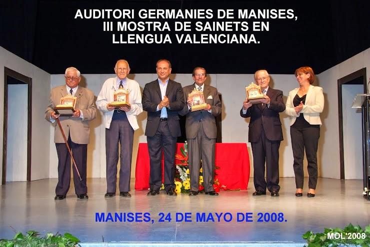 MOSTRA DE SAINETS DE MANISES EN LLENGUA VALENCIANA 2008