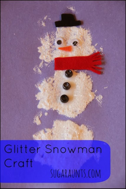 Glitter Paint Snowman Craft