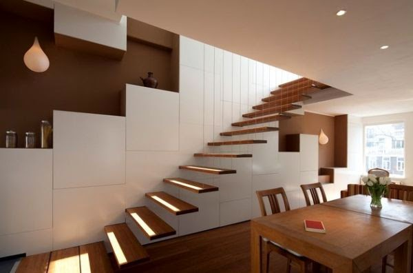 25 Elegant floating stairs designs for minimalist interiors