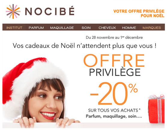 Code Promo / Réduction Nocibé -20%