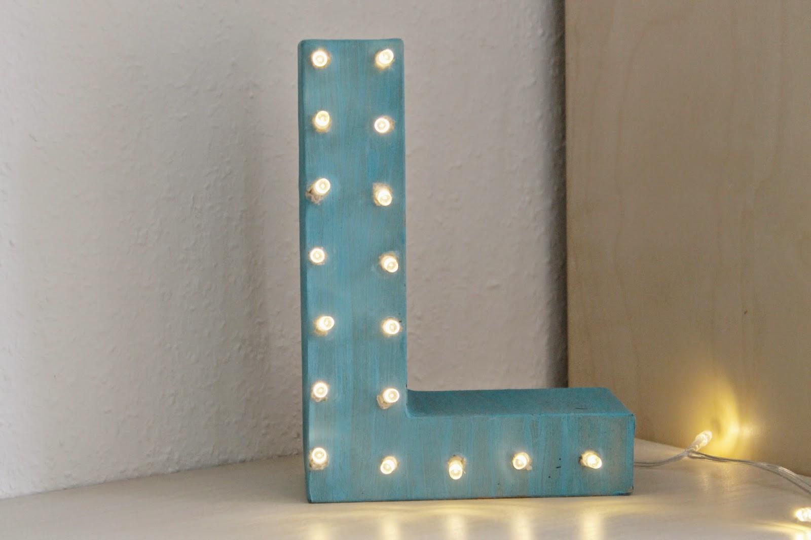 DIY Leuchtbuchtabe Marquee Letter