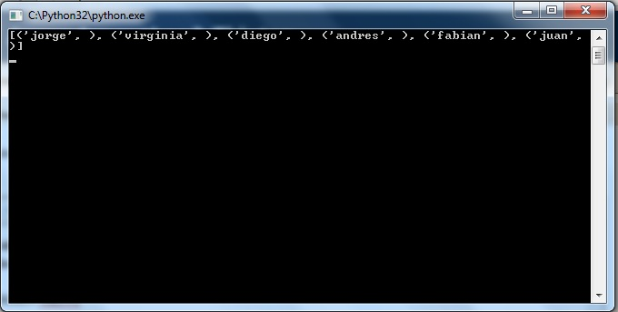 Aprender python3 tkinter sentencias mysql ejecutadas for Python consul