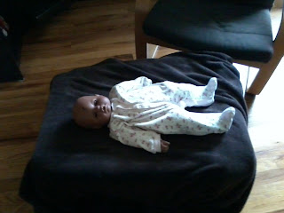 Baby doll lying down