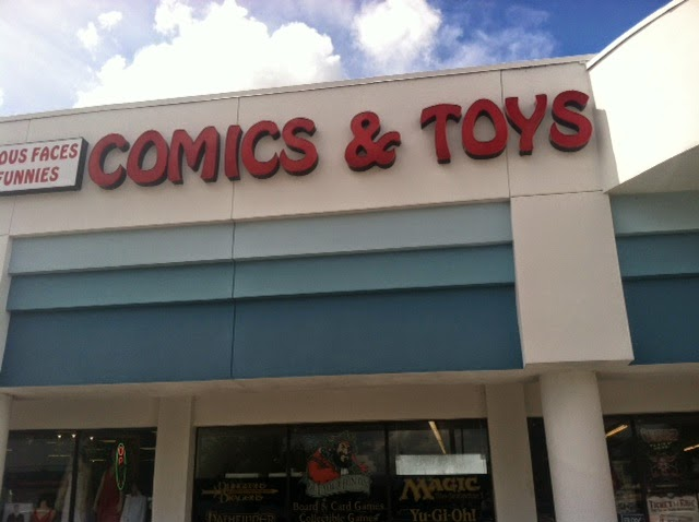 comic book hunter gatherer comic shop review famous faces and