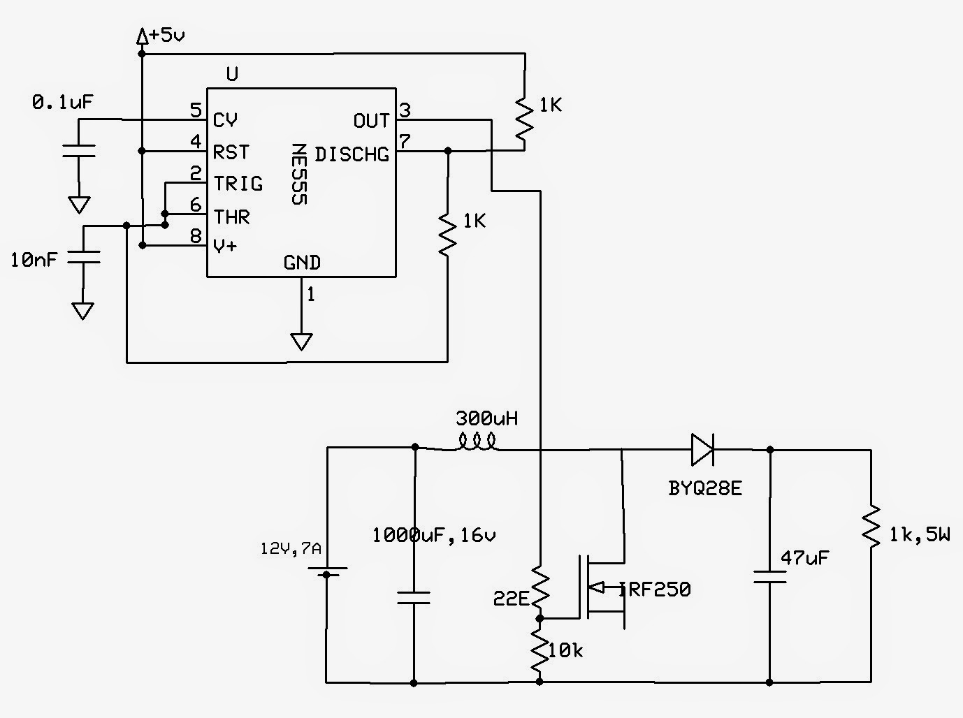 emerging technologies  555 based boost converter