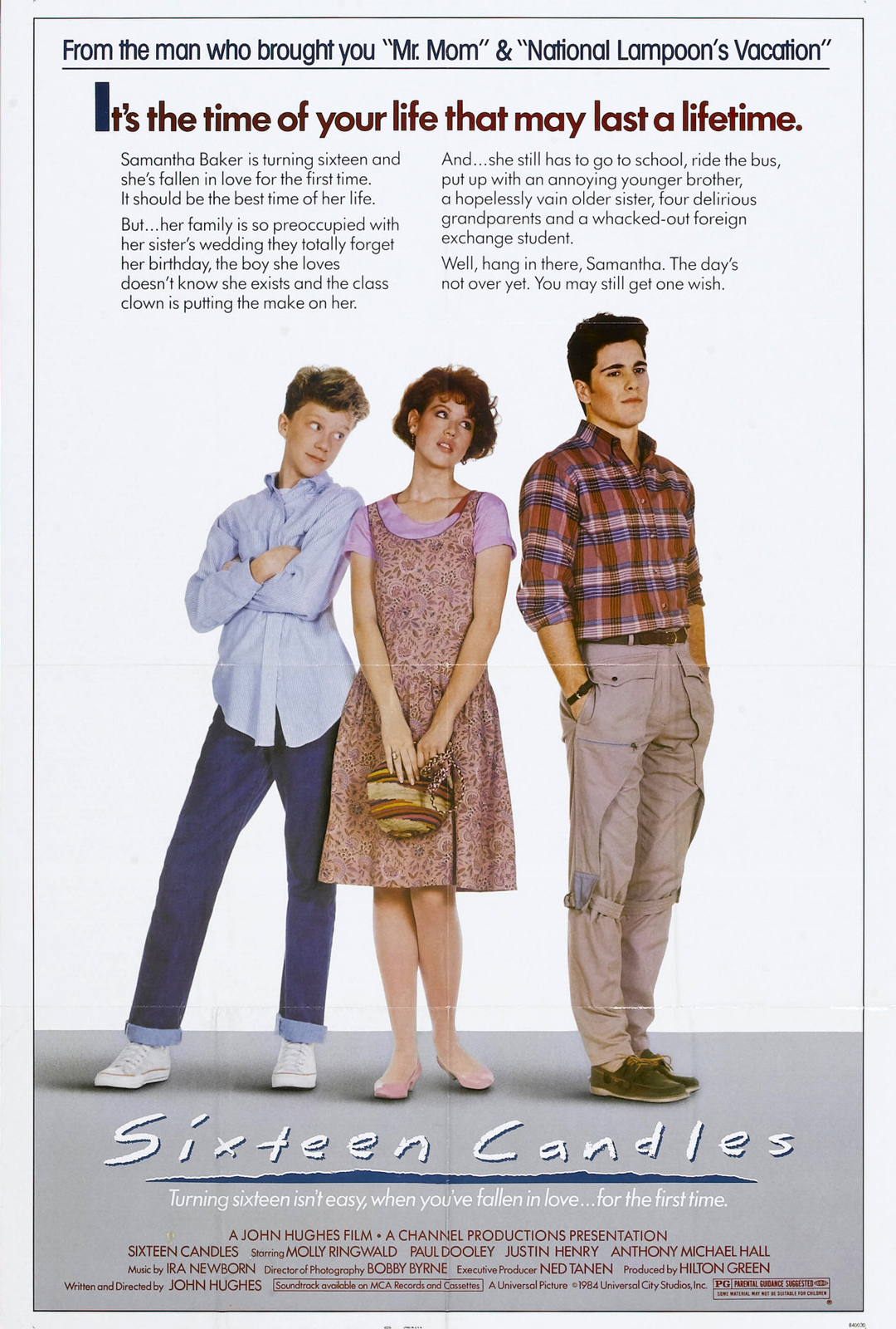movie analysis on sixteen candles After appearing in the successful hughes films sixteen candles (1984), the breakfast club  molly ringwald at the tcm movie database molly ringwald at allmovie.