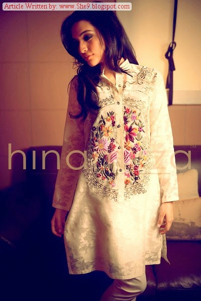 Winter Stylish Dresses by Hina Mirza