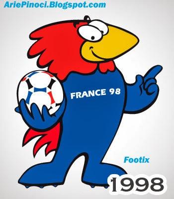 Footix Maskot Piala Dunia 1998 Prancis