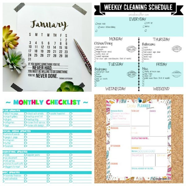 Cleaning Organizing Printables