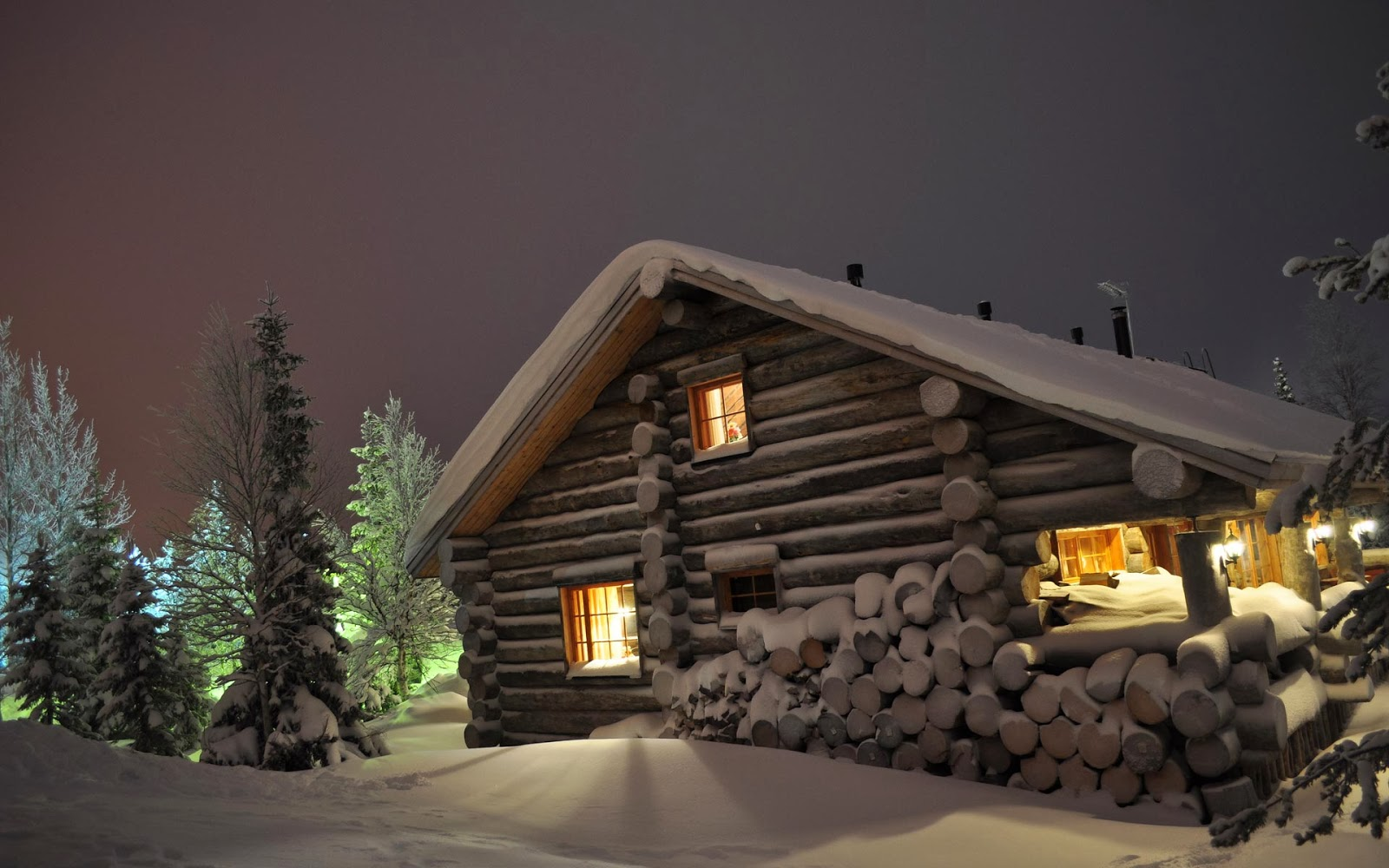 Coolest cabins winter log cabin