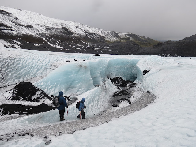 Ice picking iceland glacier walk