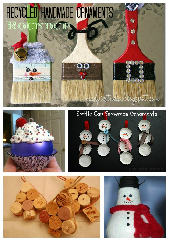 Roundup of Handmade Christmas Ornaments from Recycled ...